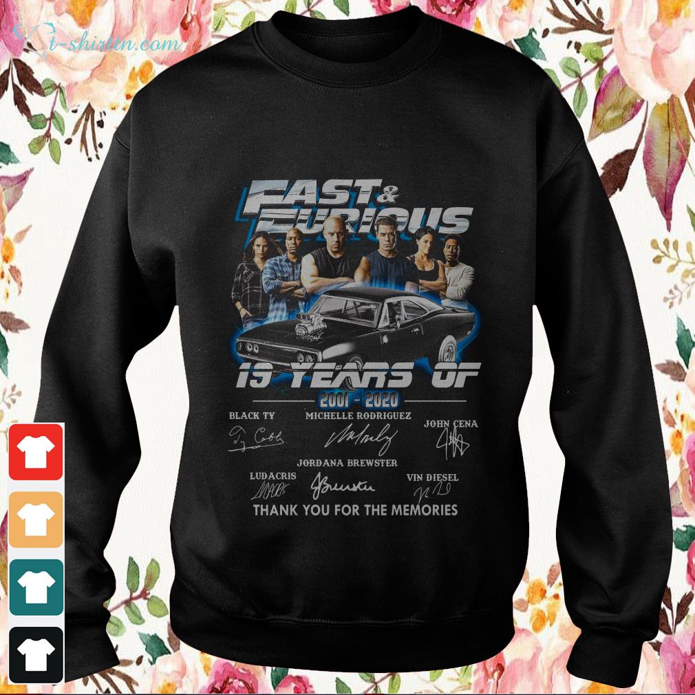19-years-fast-furious-signatures-thank-you-for-the-memories-Sweater 19 years fast and furious signatures thank you for the memories shirt