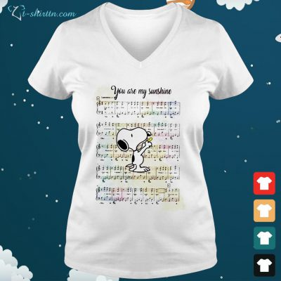 Snoopy and Woodstock you are my sunshine song V neck t shirt