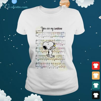 Snoopy and Woodstock you are my sunshine song ladies tee