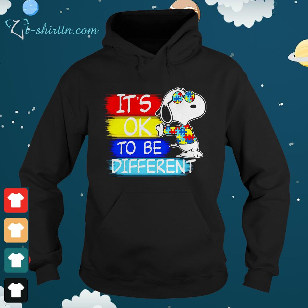 Snoopy its ok to be different Autism awareness hoodie