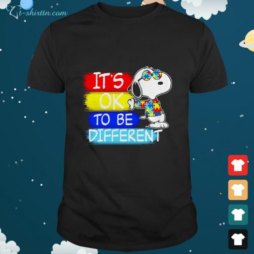 Snoopy its ok to be different Autism awareness shirt