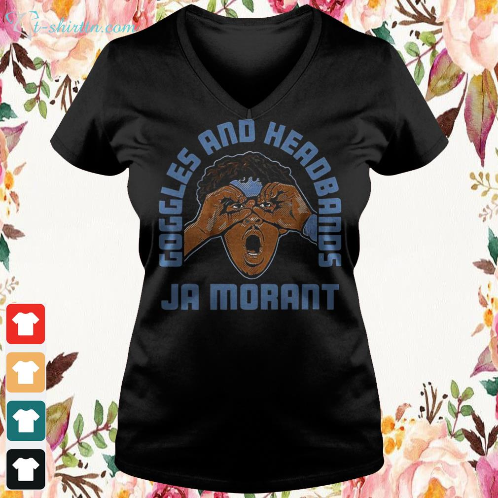 goggles-and-headbands-ja-morant-v-neck-t-shirt Goggles and Headbands Ja Morant shirt