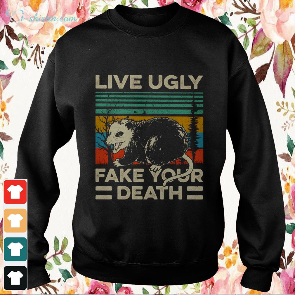 live ugly fake your death vintage Sweater