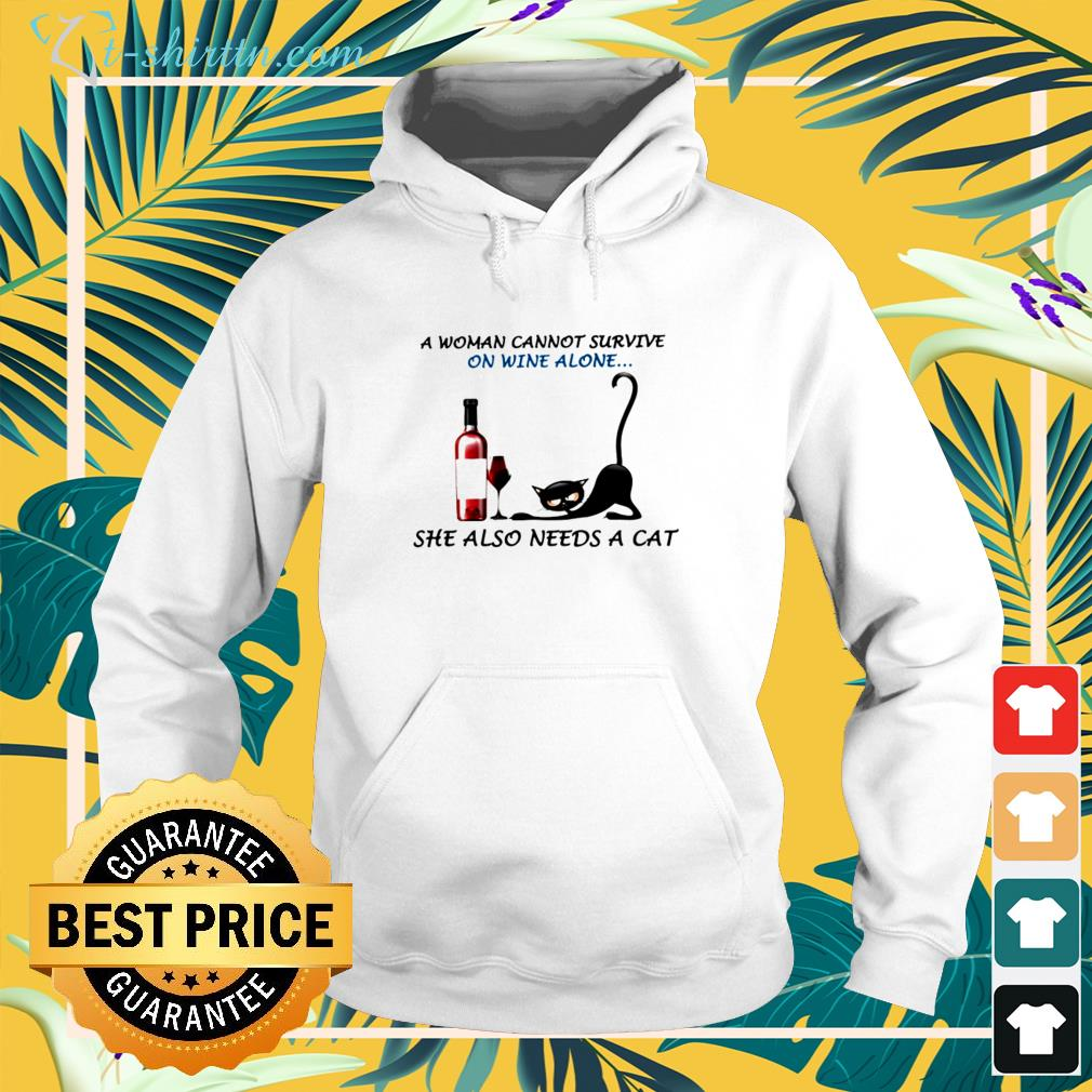 A woman cannot survive  alone  hoodie