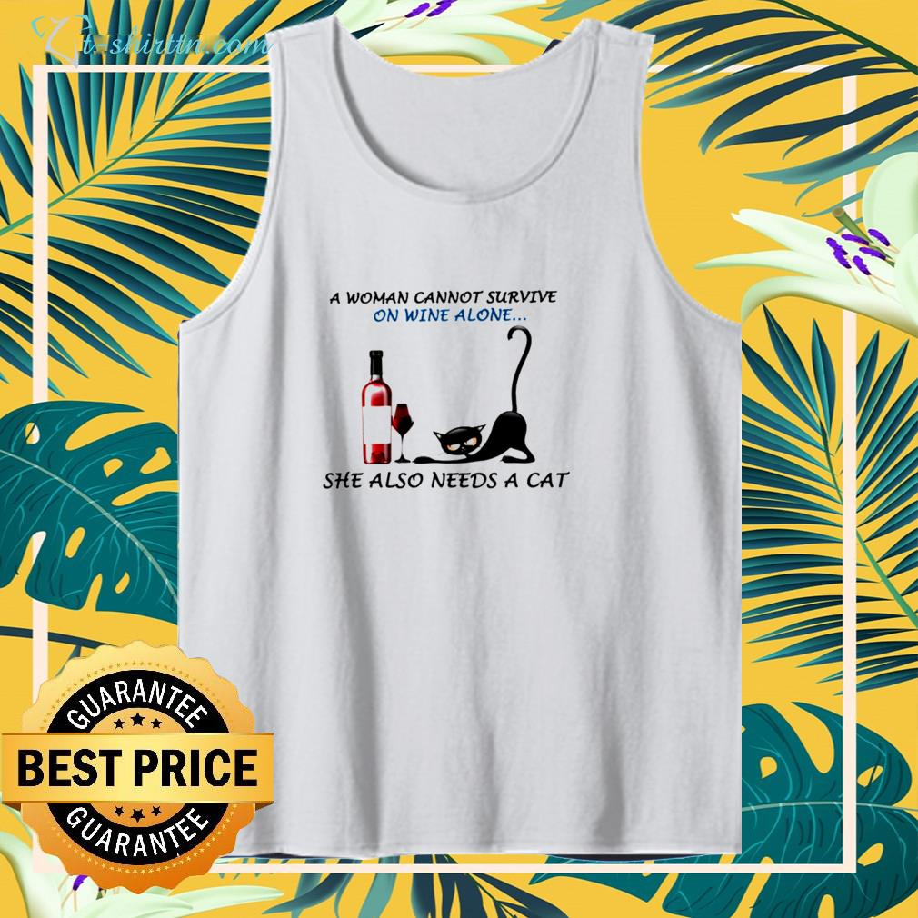A woman cannot survive  alone tank top