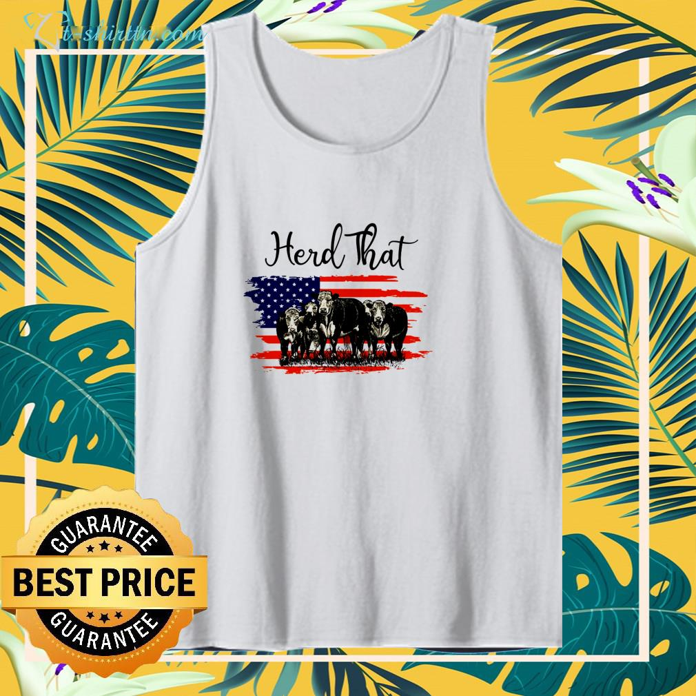 Cows herd that American flag 4th Of July shirt
