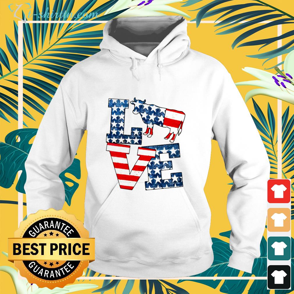 Love cow american 4th of july Independence Day shirt