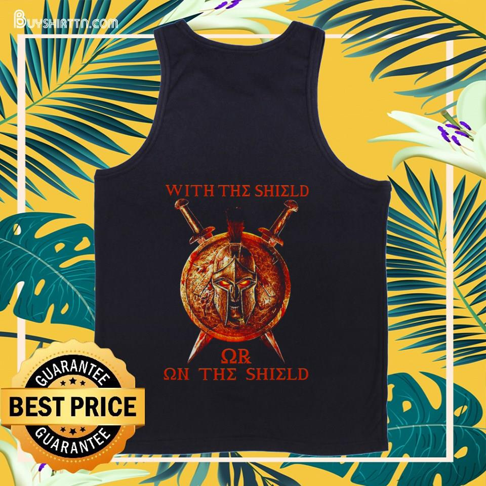 With The Shield or on The Shield tank top