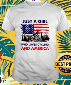Just a girl who loves cycling and America shirt