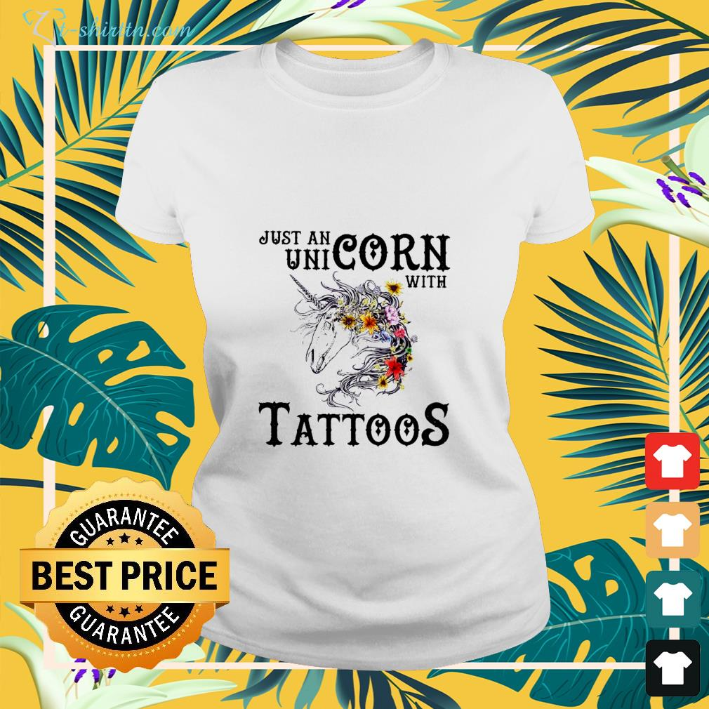 Just an unicorn with tattoos shirt