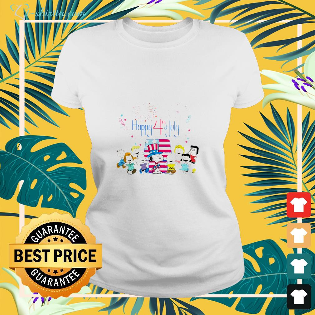 Peanuts fireworks Happy 4th Of July American flag shirt