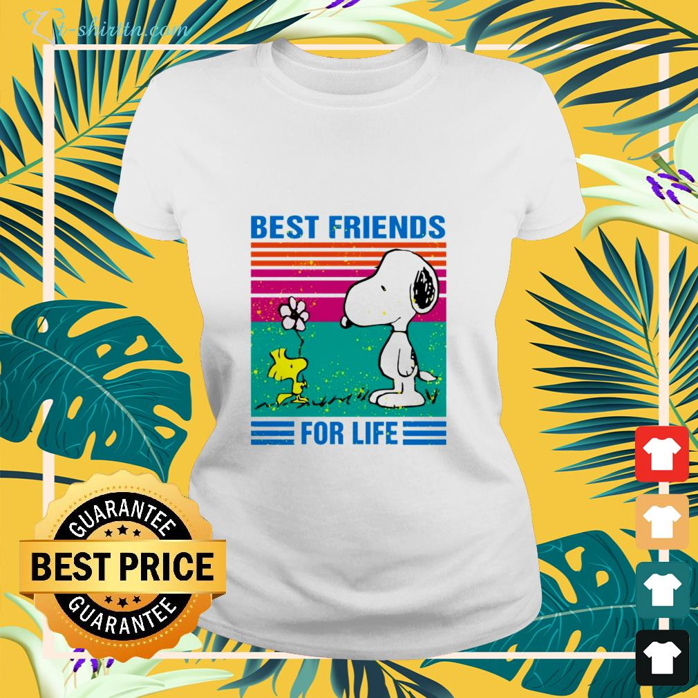 Snoopy and woodstock best friends for life shirt