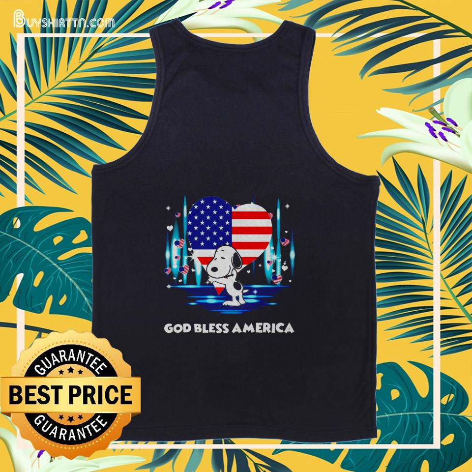 Snoopy god bless america independence day t-shirt