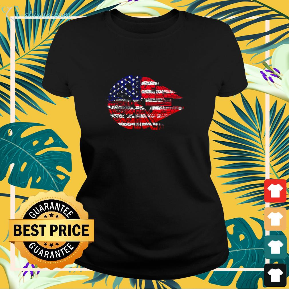 Star Wars Independence Day American 4th of July Millennium Falcon shirt