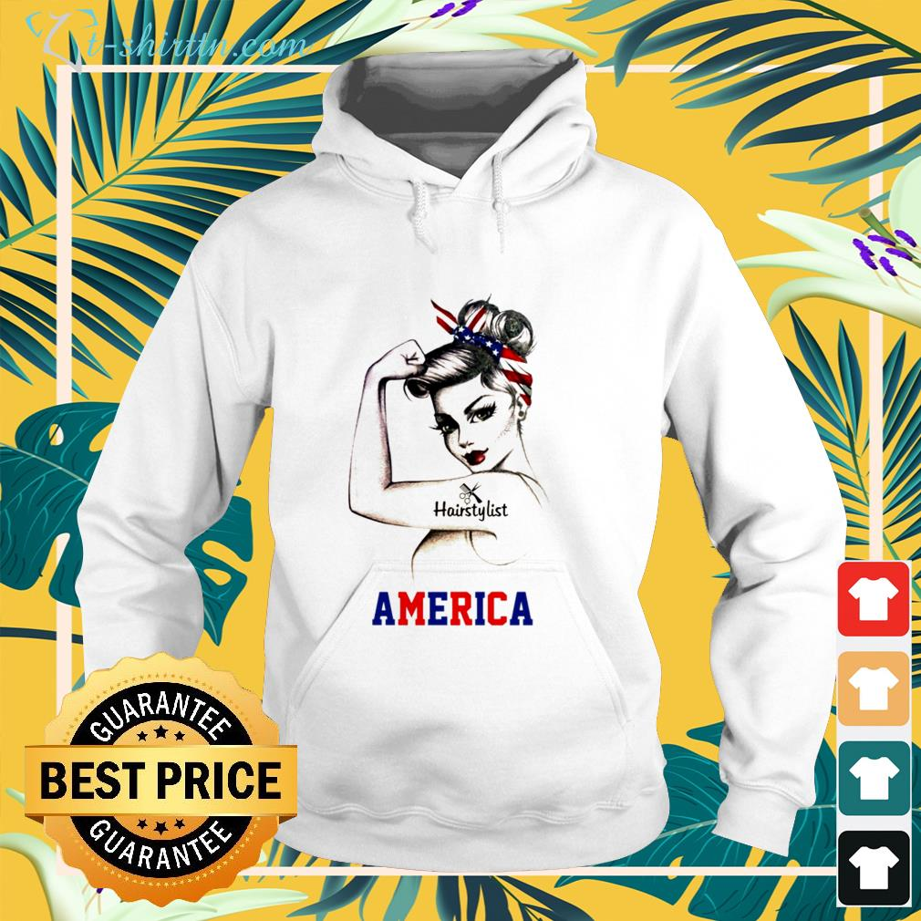 Strong Woman Hairstylist America shirt