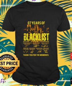 07 years The Blacklist thank you for the memories shirt