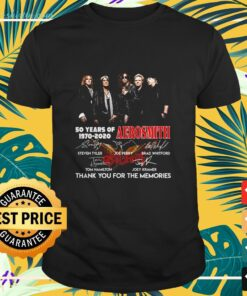 50 years of Aerosmith 1970 2020 thank you for the memories shirt