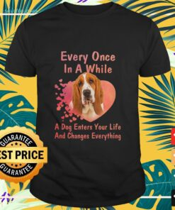Basset hound every once in a while a dog enters your life and changes everything shirt
