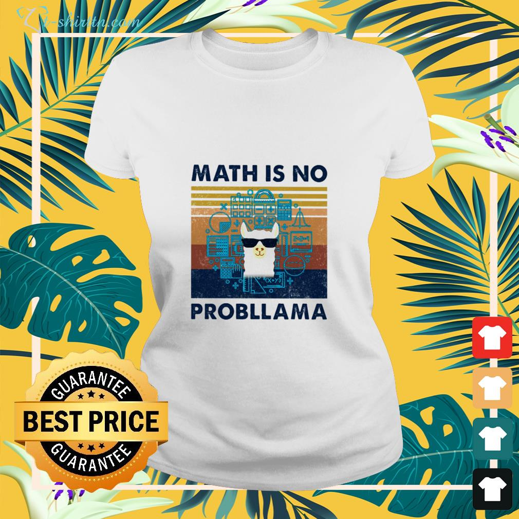 llama-math-is-no-probllama-vintage-ladies-tee Llama math is no probllama vintage shirt