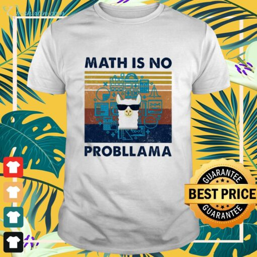 Llama math is no probllama vintage shirt