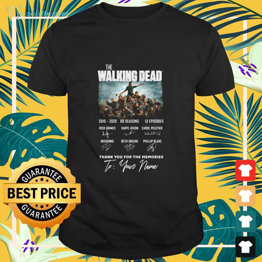 The Walking Dead TV series 2010-2020 thank you for the memories signature characters shirt