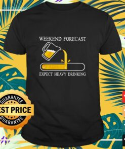Weekend forecast expect heavy drinking shirt