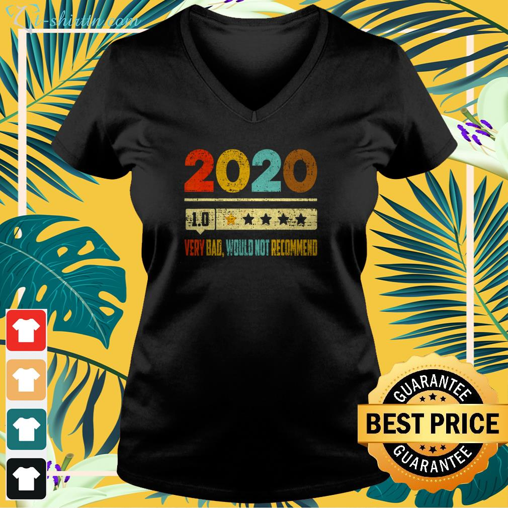 2020 1.0 very bad would not recommend vintage v-neck t-shirt