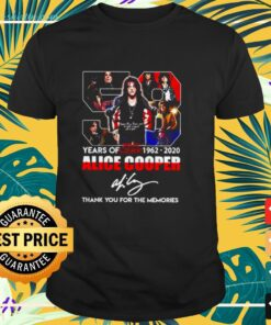 58 years of Alice Cooper 1962-2020 thank you for the memories t-shirt