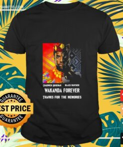 Chadwick Boseman Black Panther Wakanda forever thanks for the memories t-shirt