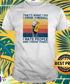 Baby Groot Hug that's what I do I drink fireball I hate people and I know things T-shirt