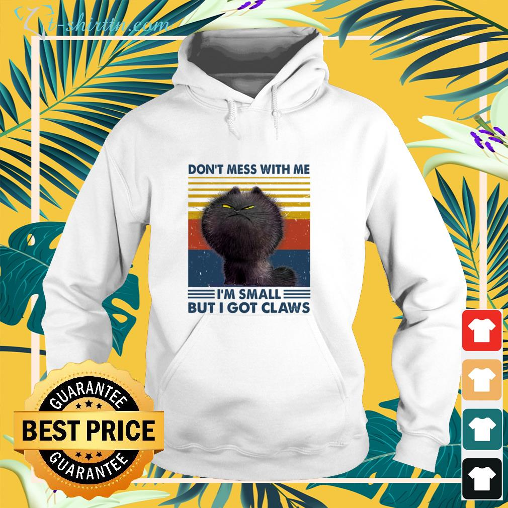 Black cat don't mess with me  vintage hoodie