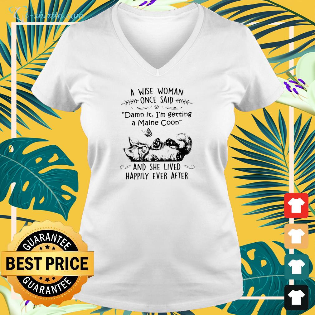 Cat a wise woman once said v-neck t-shirt