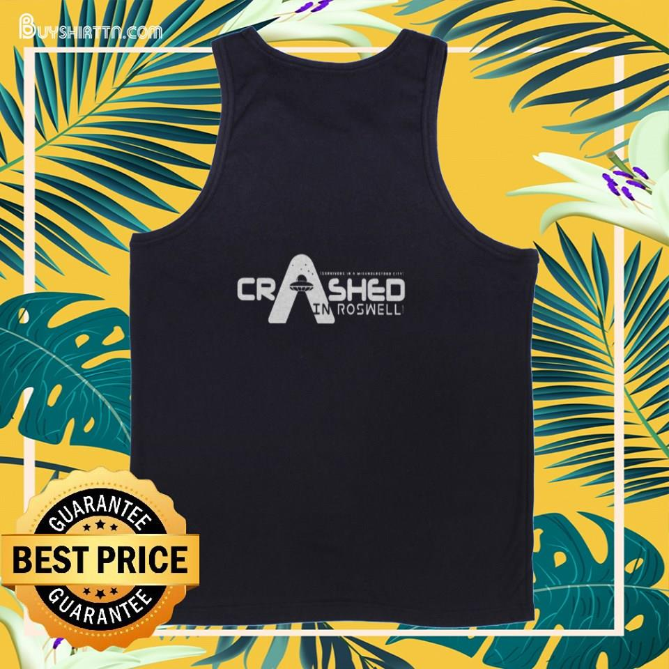 Crashed in Roswell Premium Fit tank top