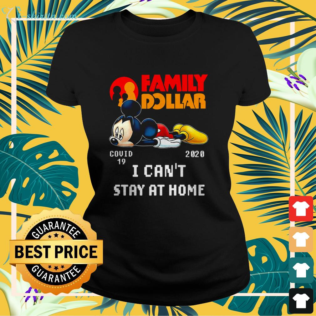Family Dollar Mickey Mouse Covid 19 2020 ladies-tee