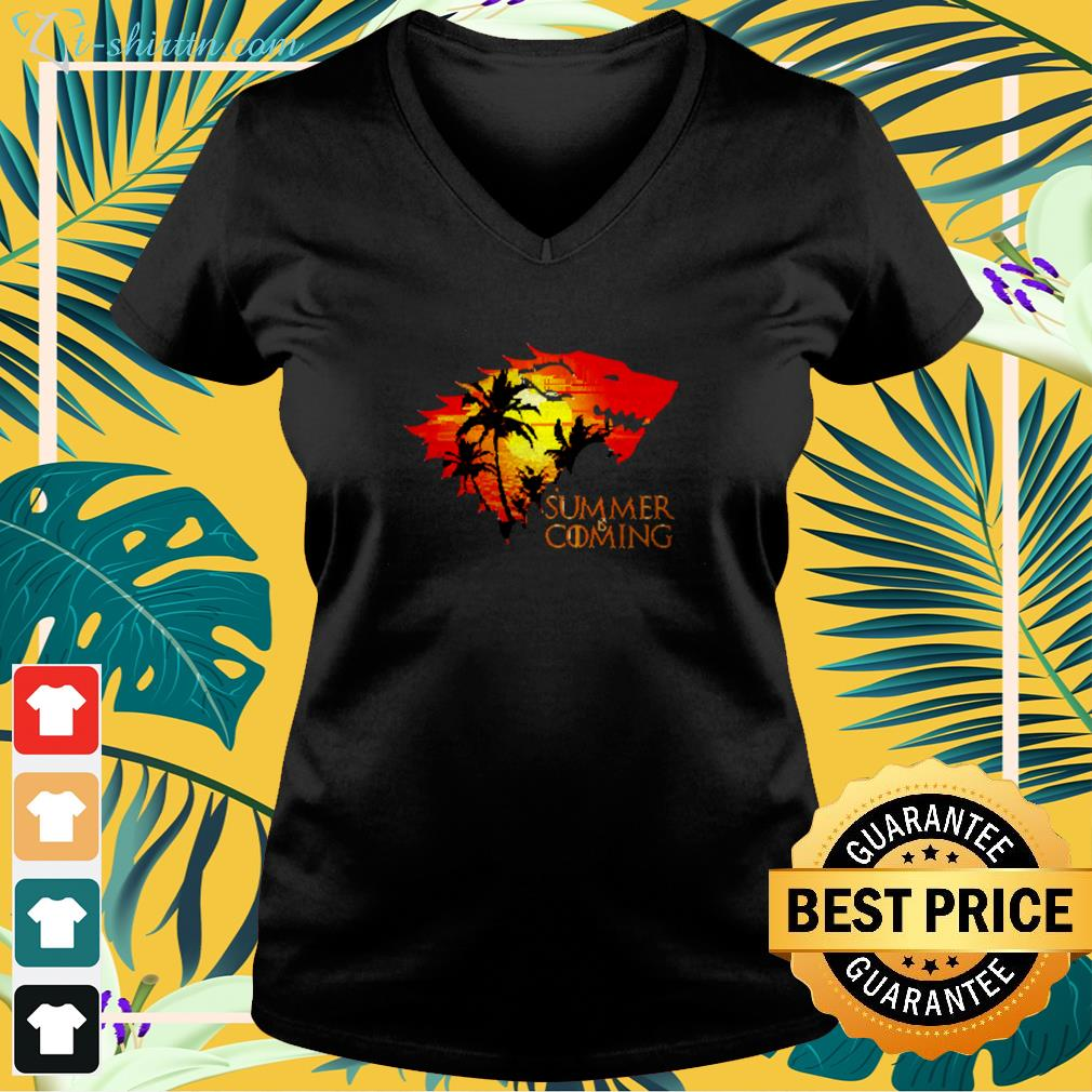 Game of Thrones summer is coming v-neck t-shirt