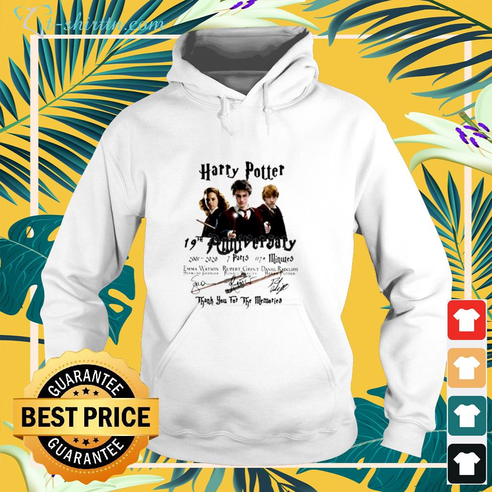 Harry Potter 19th anniversary 2001 2020 thank you for the memories hoodie