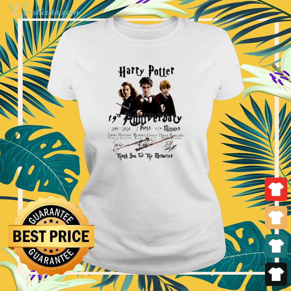 Harry Potter 19th anniversary 2001 2020 thank you for the memories ladies-tee