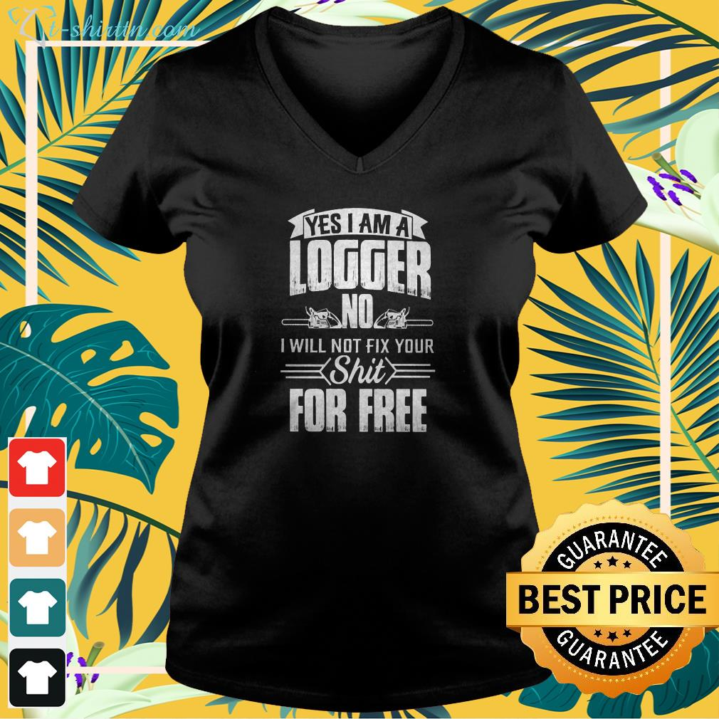 Logger will not fix your v-neck t-shirt