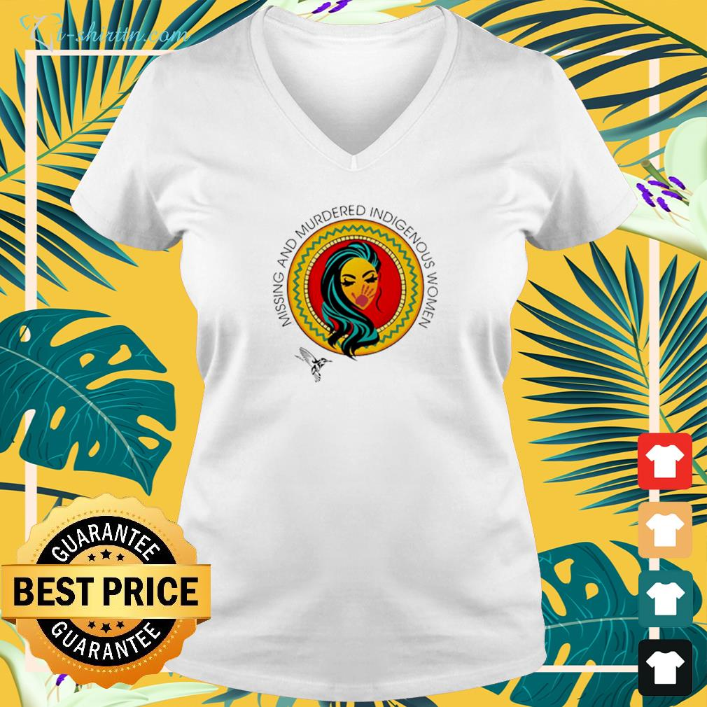 Missing And Murdered Indigenous Women v-neck t-shirt