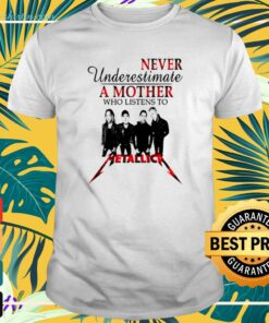 Never underestimate a mother who listens to Metallica t-shirt