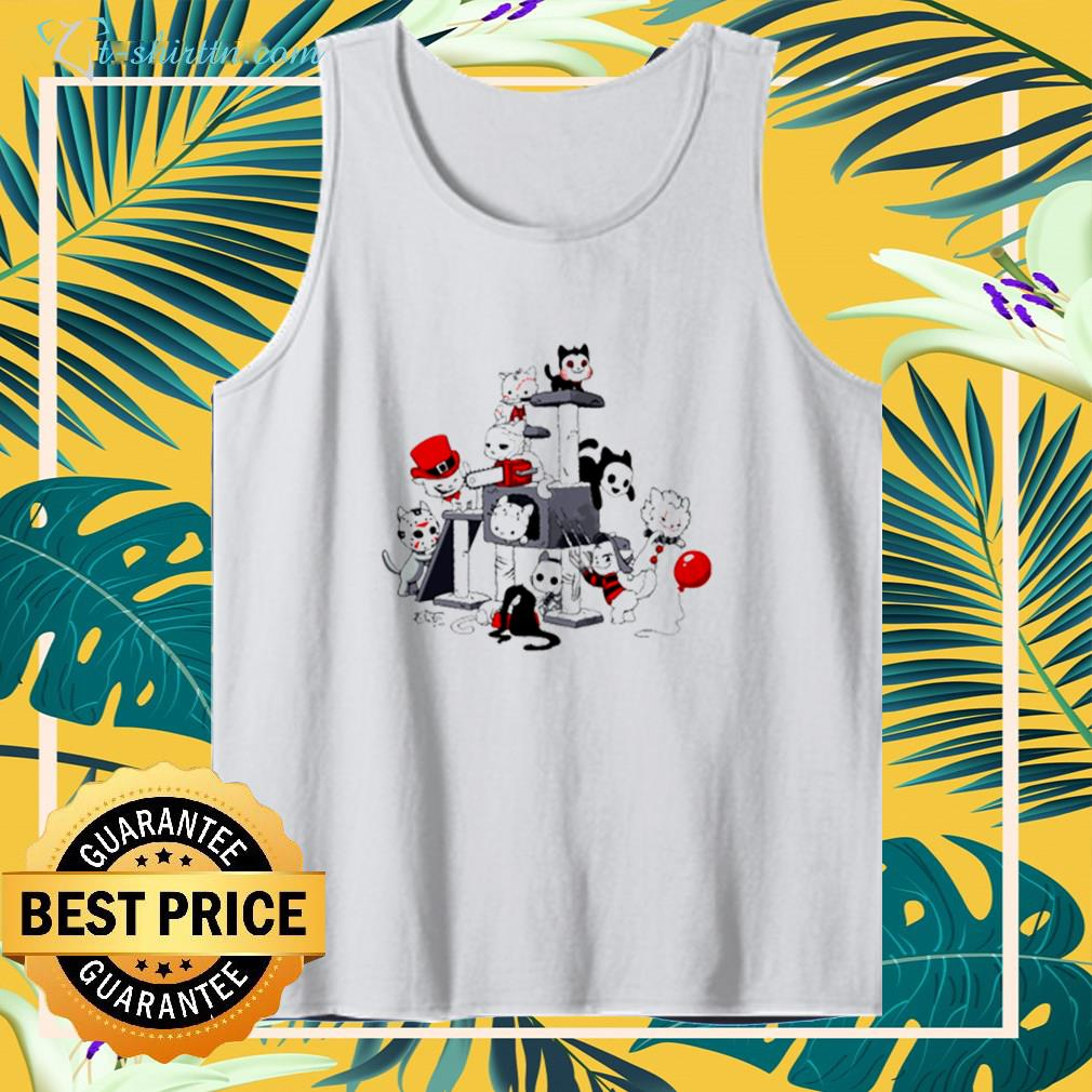Park cats scariest horror movie characters halloween tank top