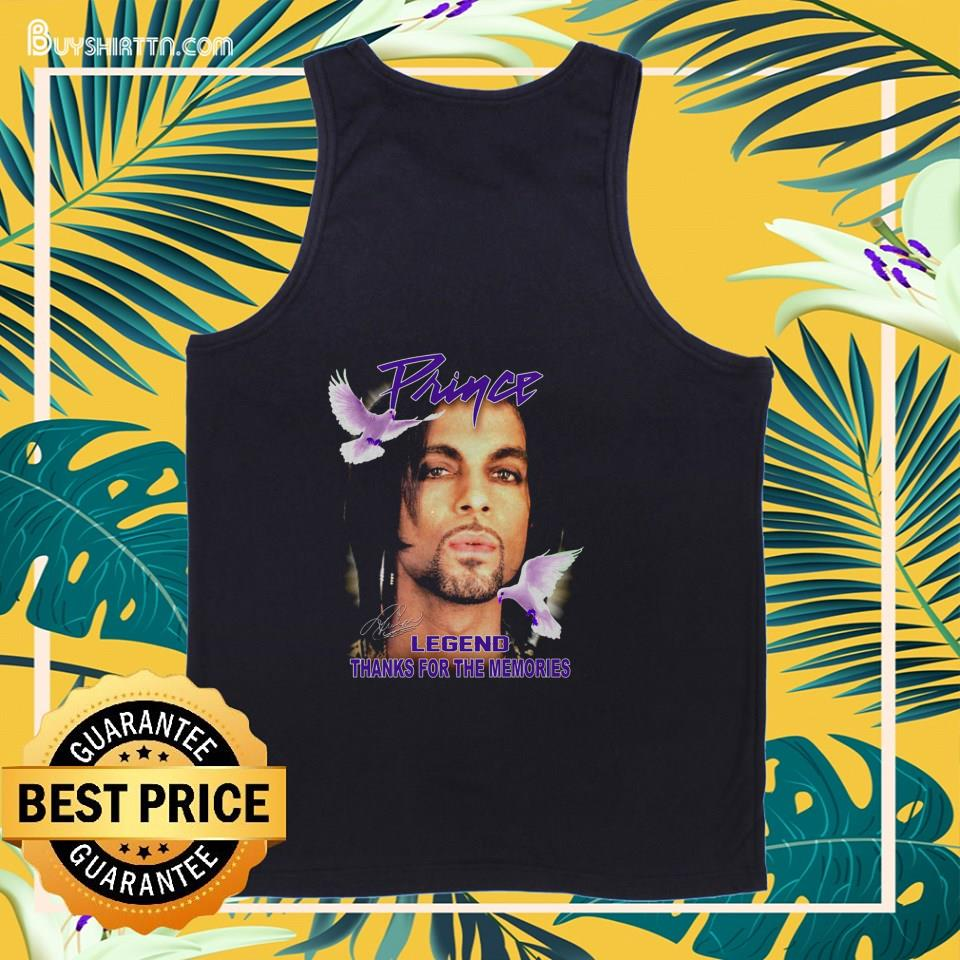 Prince legend thank for the memories signature tank top