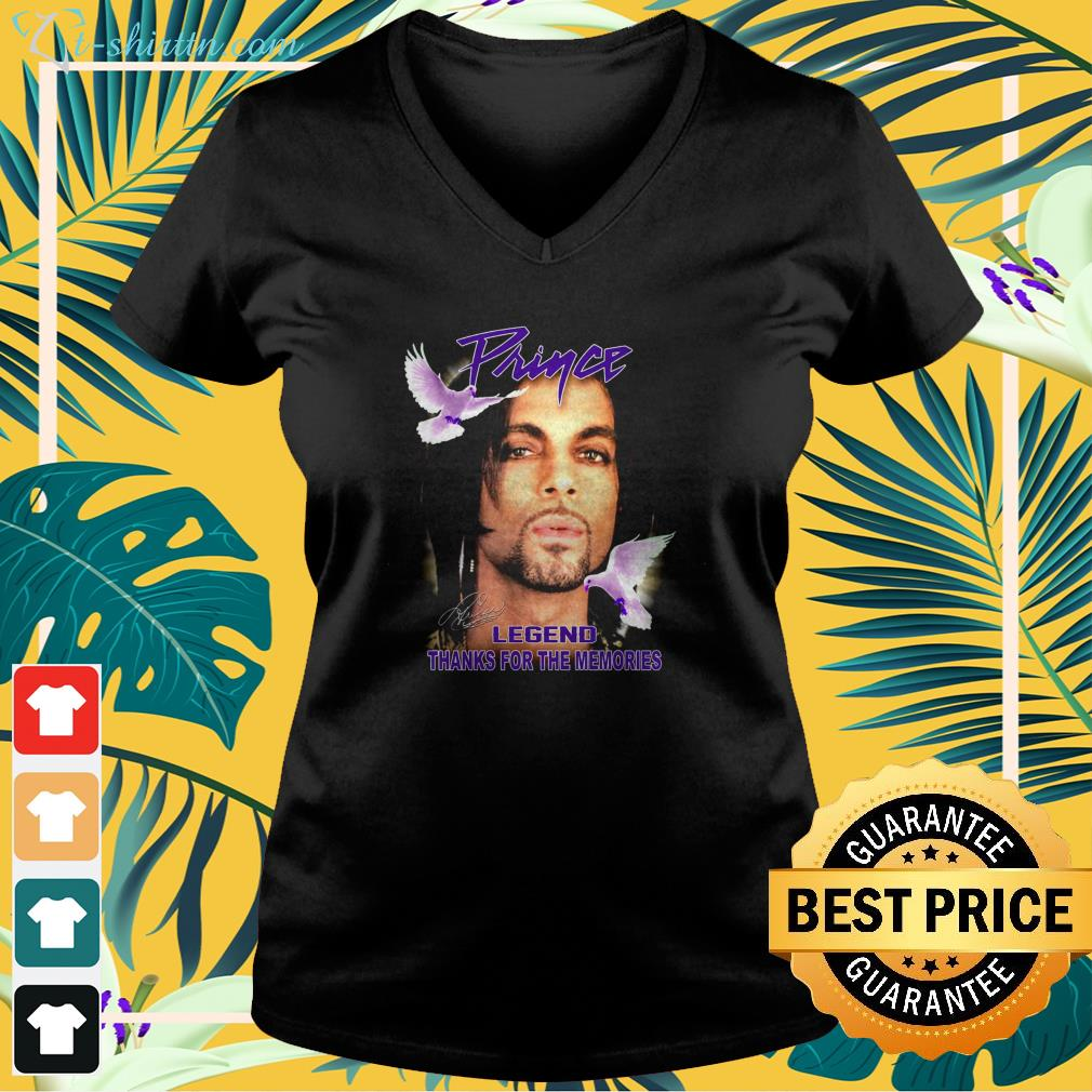 Prince legend thank for the memories signature v-neck t-shirt