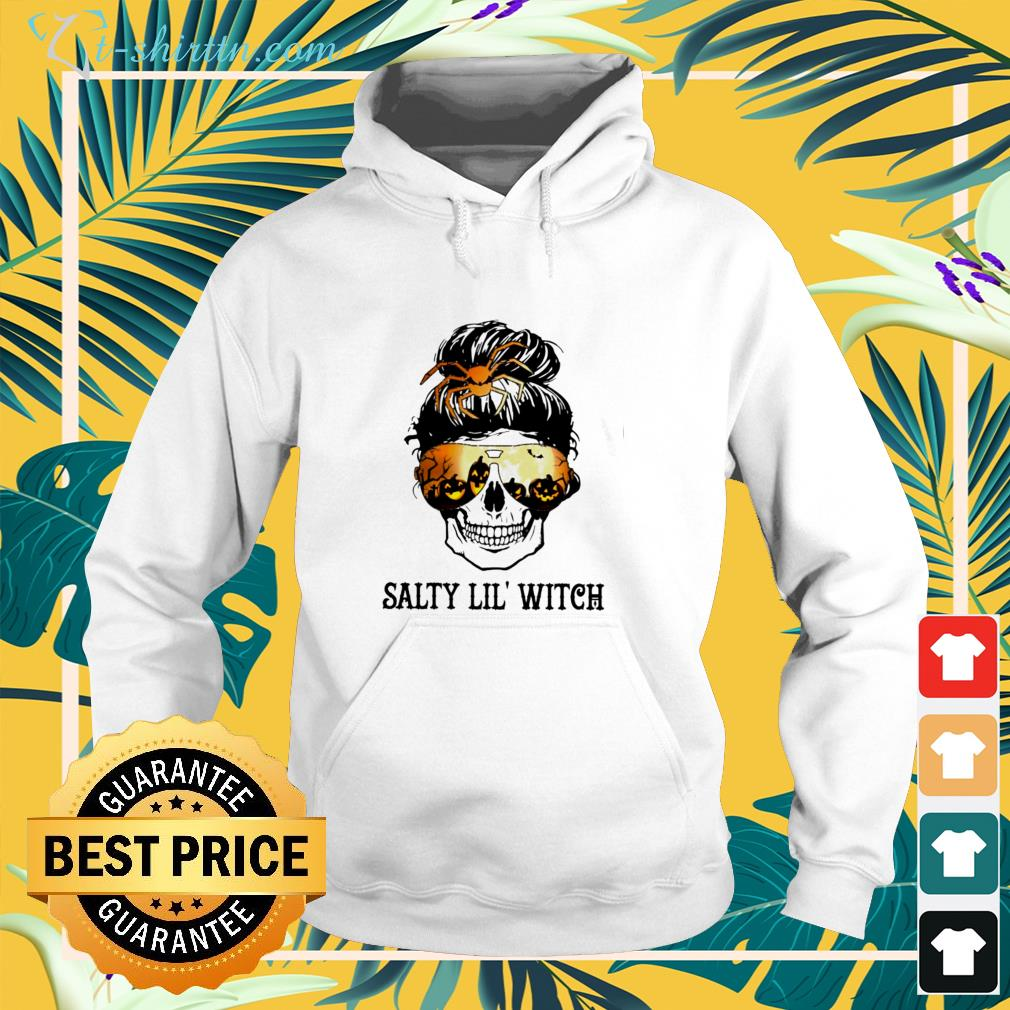 Skull salty lil'  witch hoodie