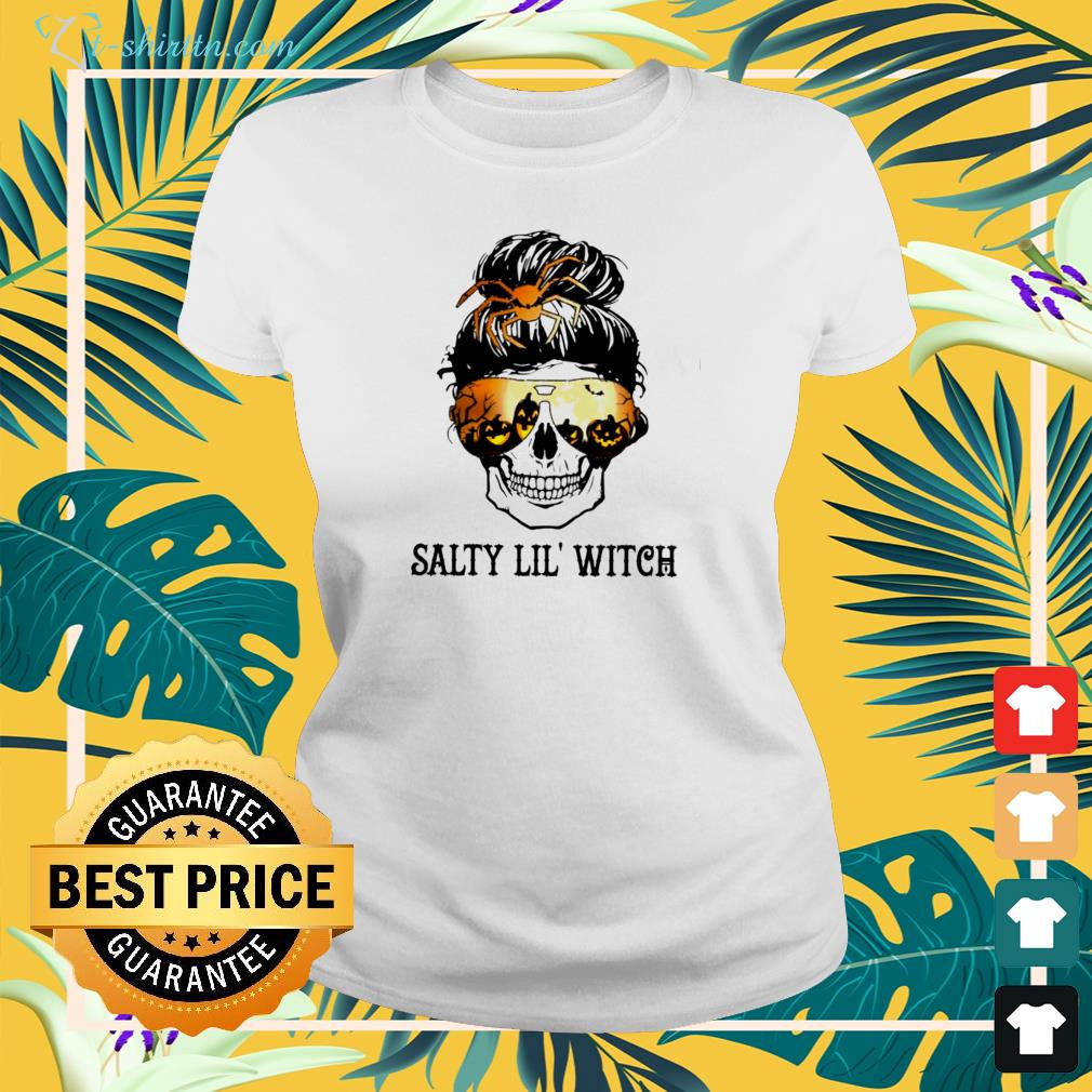 Skull salty lil'  witch ladies-tee