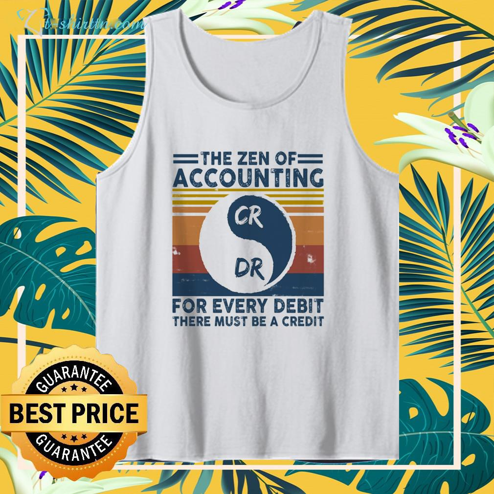 The zen of accounting CR DR for every debit there must be a credit vintage tank top