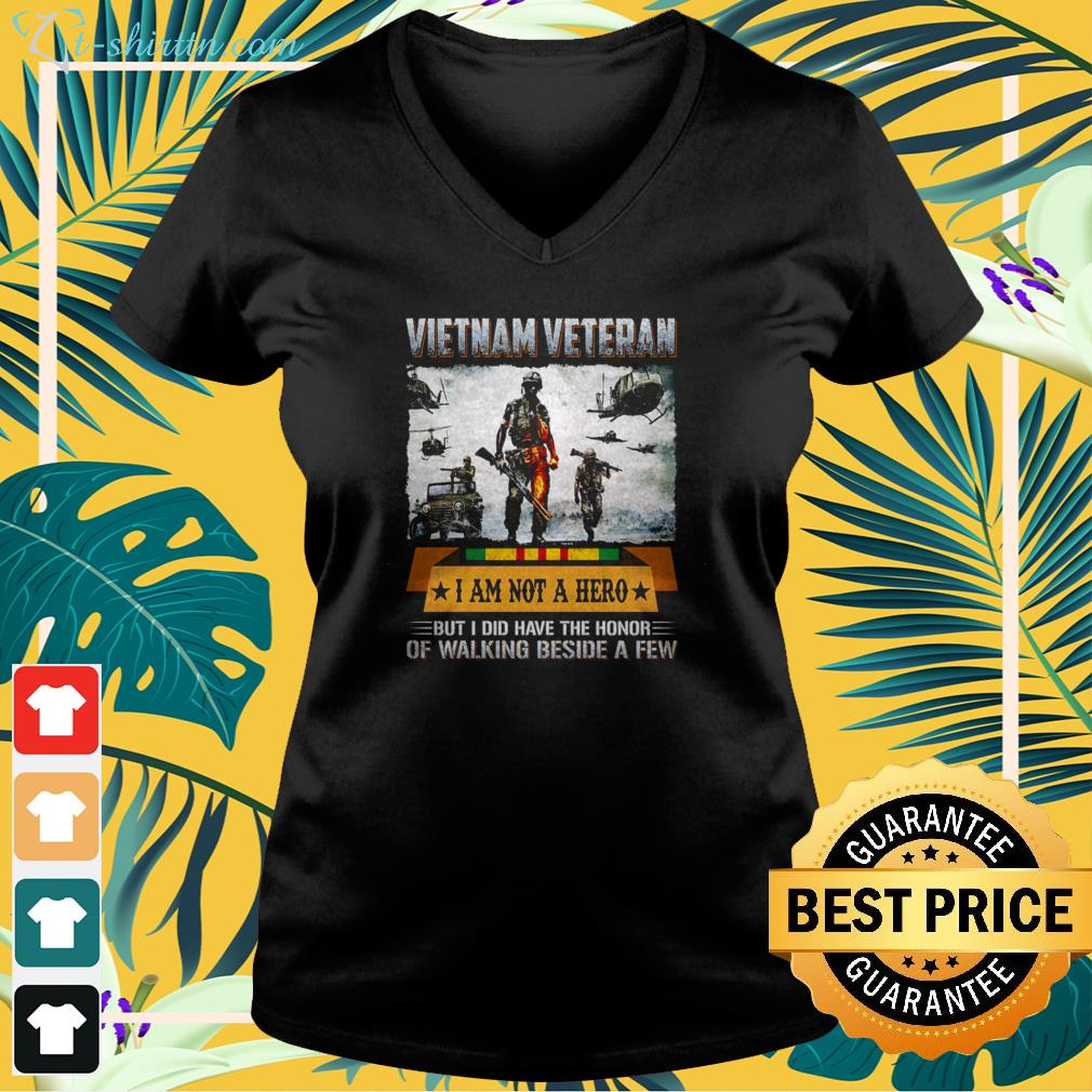 Vietnam veteran I am not a hero but I did have the honor of walking beside a few v-neck t-shirt