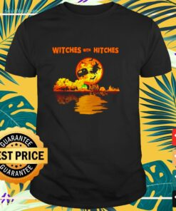 Witches with hitches giutar sun set t-shirt