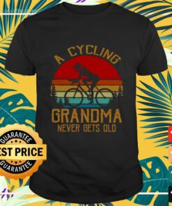 A cycling grandma never gets old vintage t-shirt