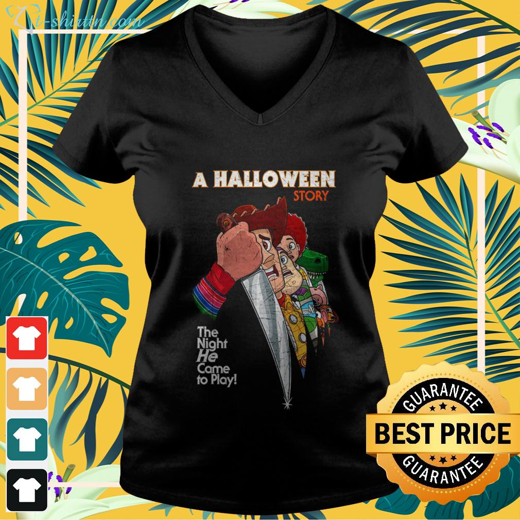 A Halloween Story the night he came to play v-neck t-shirt